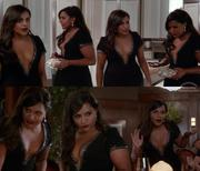 Mindy Kaling Open/Cleavage dress Mindy project S4E1