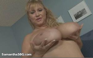 Samantha 38G   Sultry Sammy 10 31 11 big natural tits