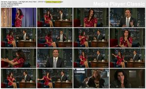 Angie Harmon -- LEGS -- Late Night with Jimmy Fallon -- 2010-07-12